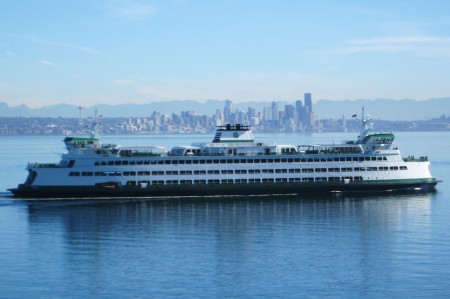 The Seattle Ferry from Rockaway Beach road
