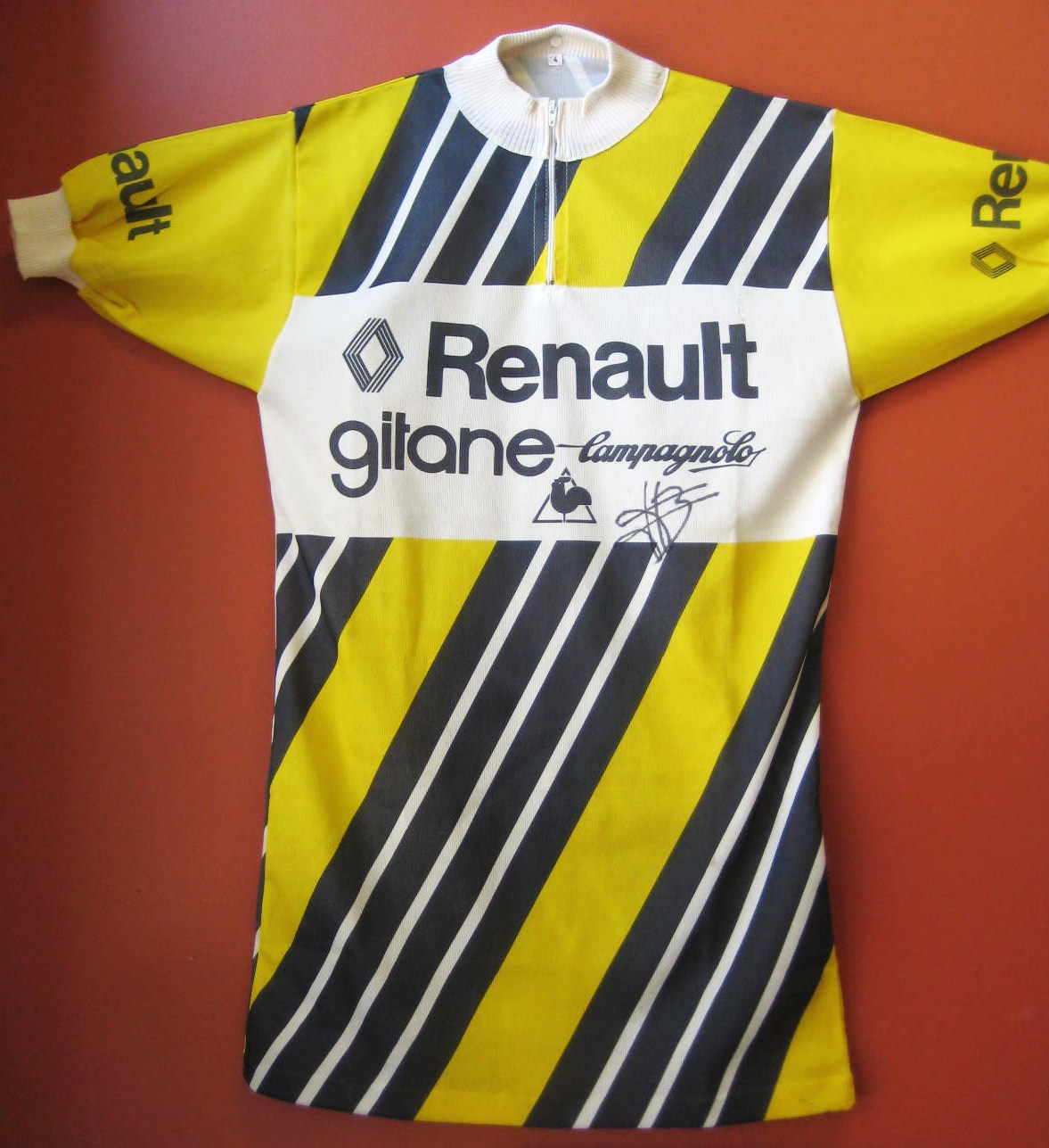Old Renault team jersey signed by Bernard Hinault a6f8e8131