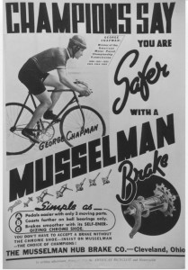 Musselman brake add featuring George Chapman