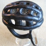 leather hairnet helmet