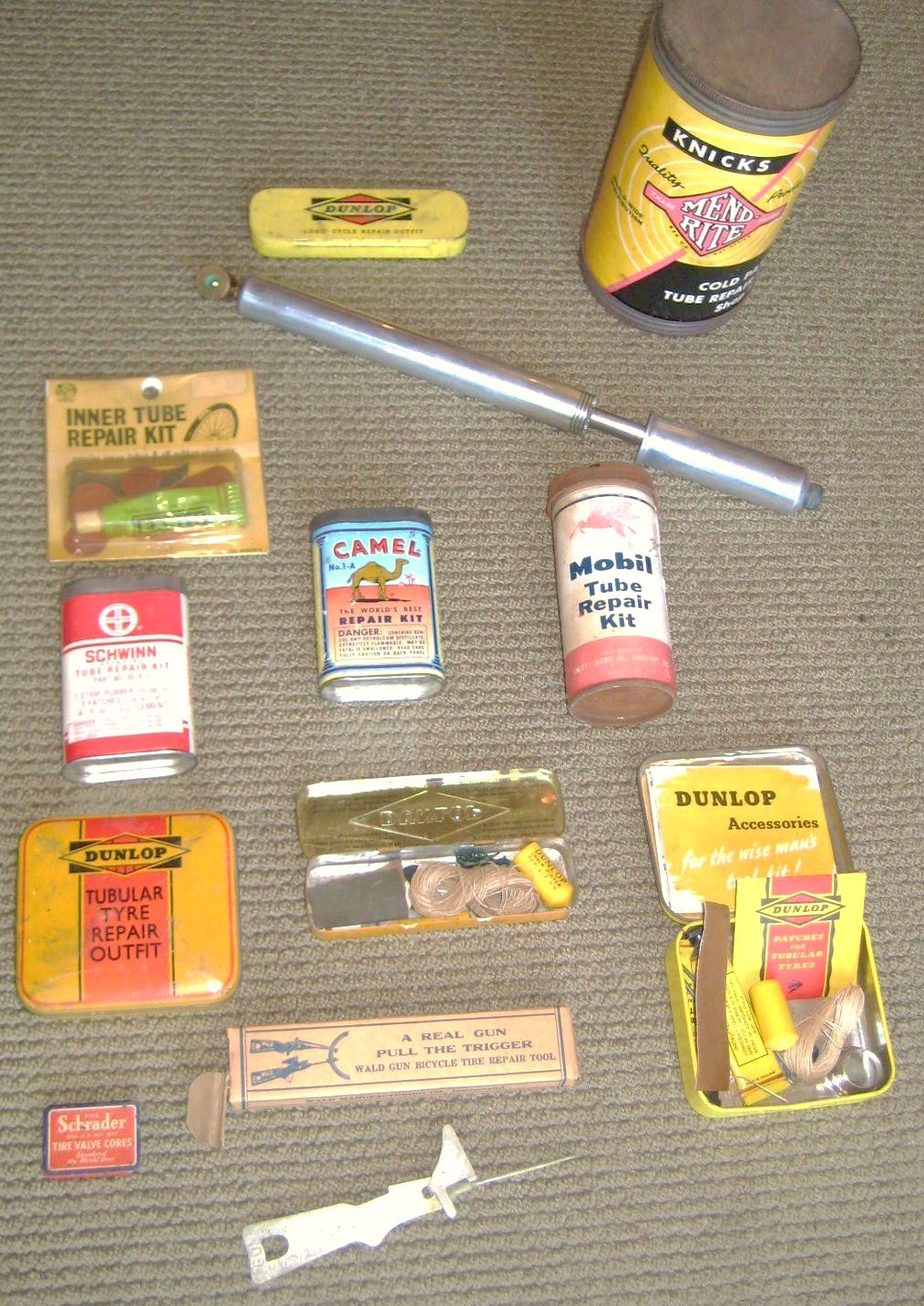 Tire Repair Kit >> Vintage bicycle patch kits and pumps at Classic Cycle | Classic Cycle Bainbridge Island Kitsap ...