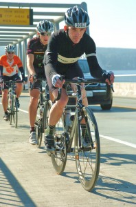 The Colnago and Paul in action