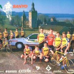 TVM Team poster with Kirk bike, 1991