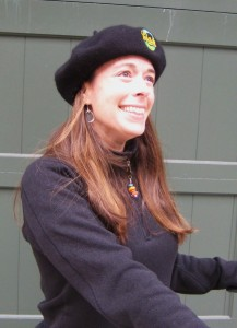 Jaime modeling her beret