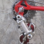 Bullseye pulleys on the Record derailleur