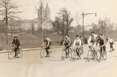 Kids riding in Central Park  1926