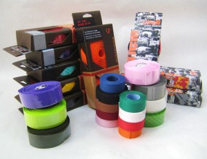 Handlebar tape in a variety of colors and styles