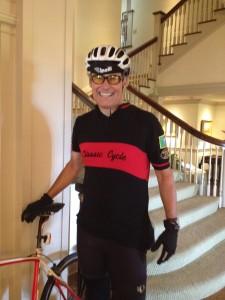 Washington Governor Jay Inslee and his bike
