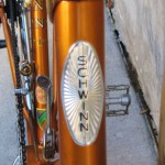 Head tube badge with protective crystal