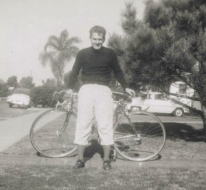 John and his bike in 1955