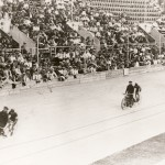 A motor-paced track race