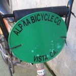 Alpha Bicycle Co. number plate