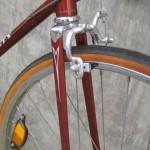 Flat steel leg fork