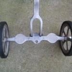 Unbolt the deck, install one wheel