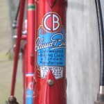 Claud Butler head tube badge, headset oil port