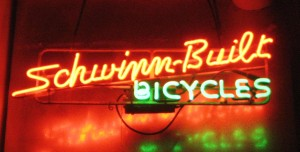 Like most great Schwinn products, this sign is over 60 years old.