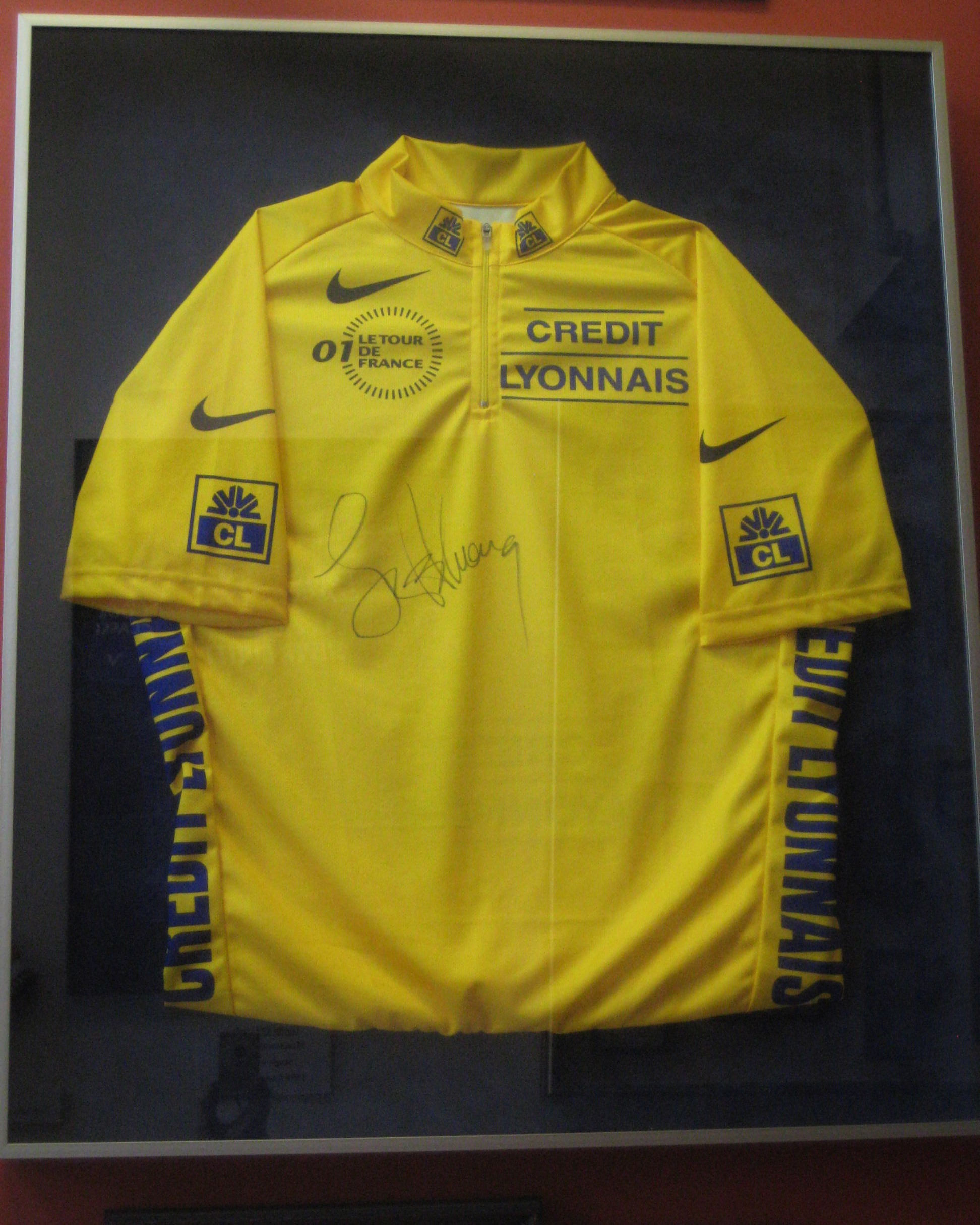 One of Lance Armstrong s 2001 Tour de France Yellow Jerseys 9c0b64aba