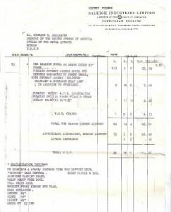 1966 Export Invoice
