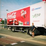 The Coca Cola Tour de France truck