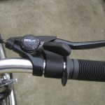 Big brake levers, thumb shifters