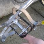 Campy pedals, Binda toe straps