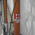 Wood veneer wrapped head tube