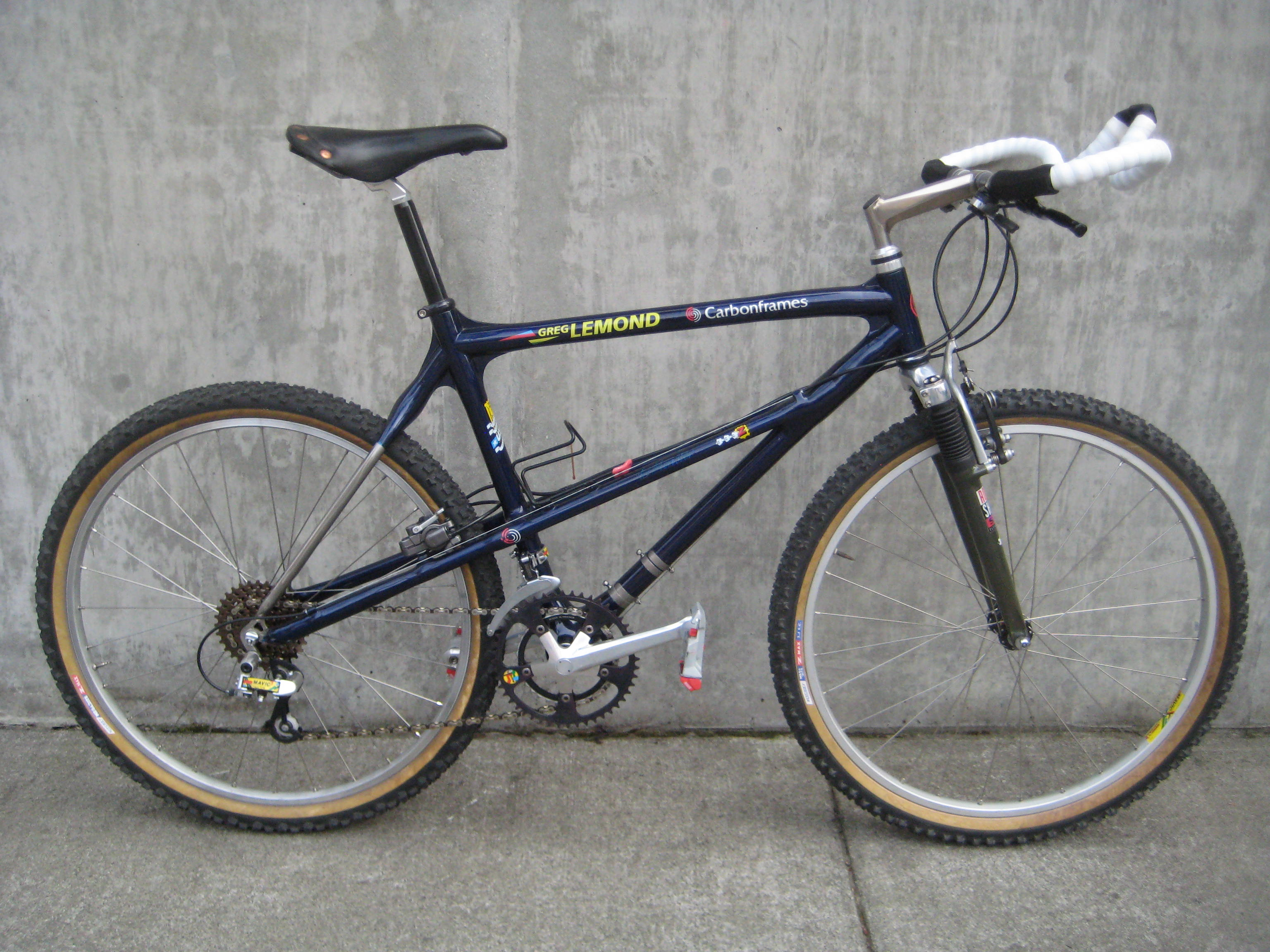 Greg LeMond's 1991 Calfee mountain bike at Classic Cycle
