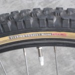 Tires labeled for the bike