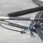 Carbon seat stays but a ti brake bridge